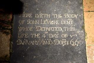 John Levicke Gent, 1660