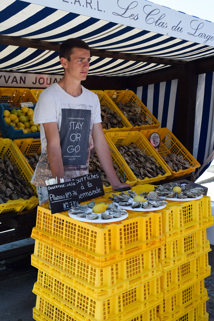 Oyster Seller in Cancale, Brittany