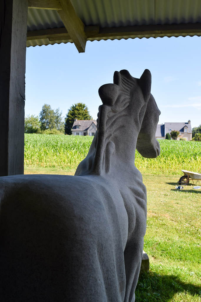 Marble Horse Sculpture