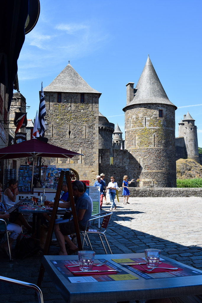 Courtyard at Fougeres, Brittany