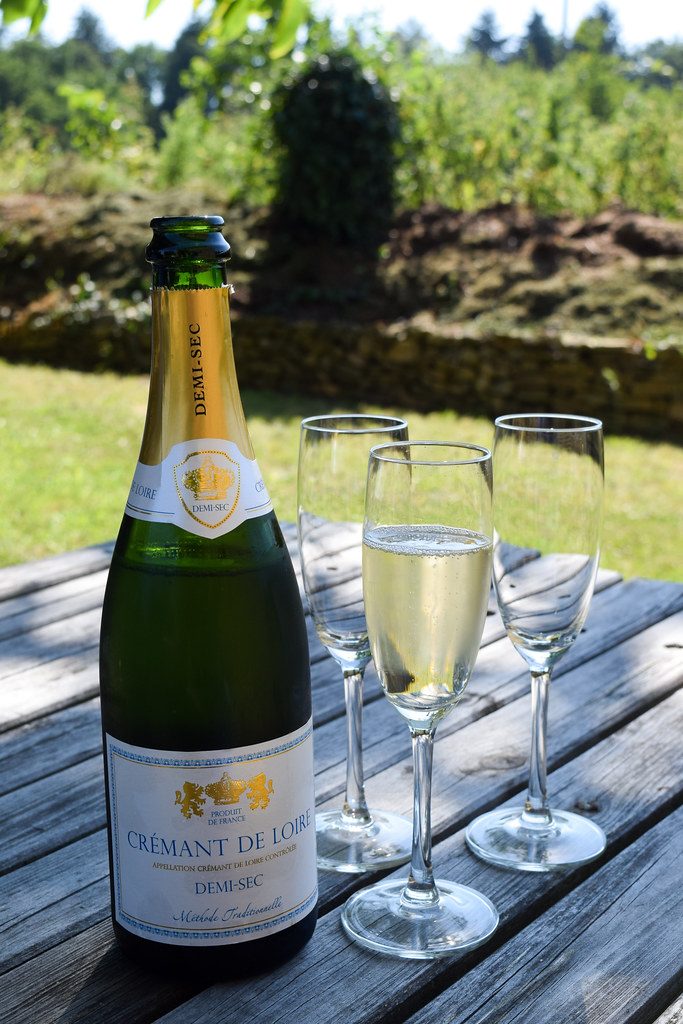 Bottle of Cremant in Brittany