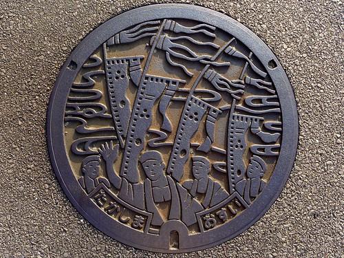 Takashima Nagasaki, manhole cover (長崎県鷹島町のマンホール)