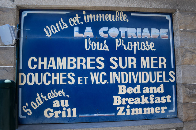 Hotel Signage in Cancale, Brittany