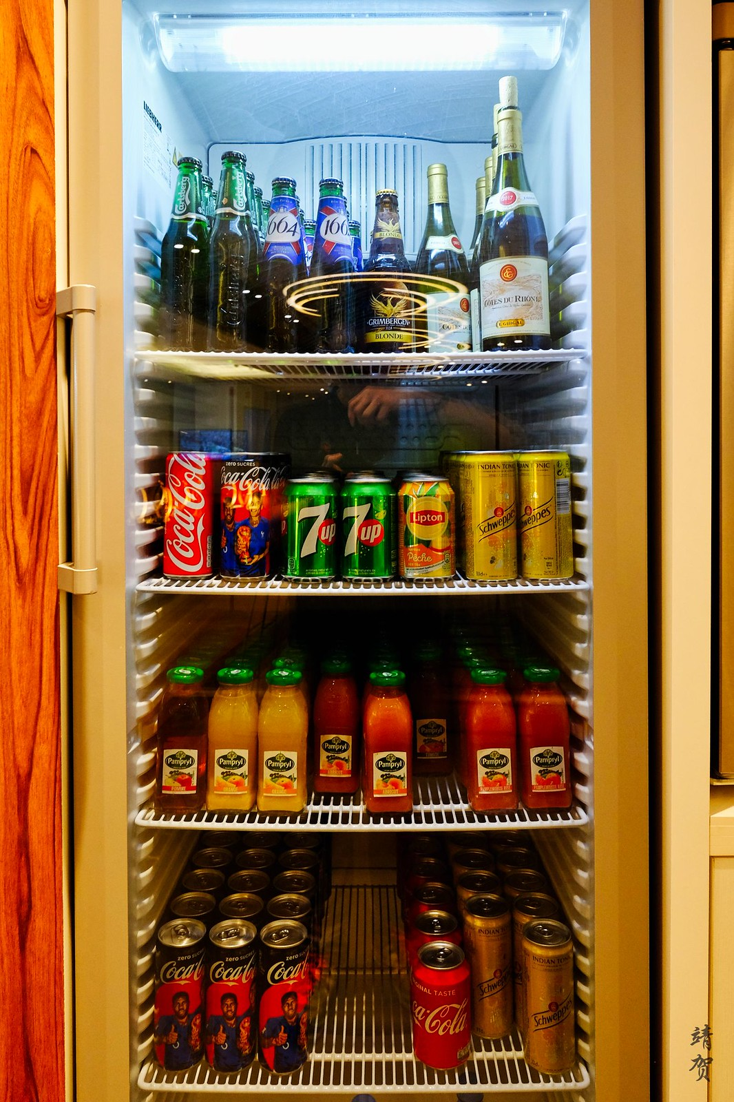 Juices and beer fridge