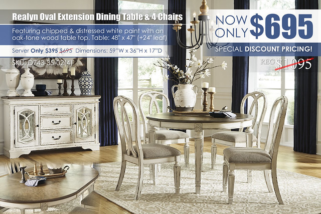 Realyn Oval Extension Dining Table & 4 Chairs_D743-35-02(4)-60