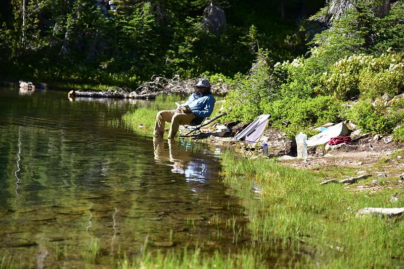Relaxing at Alice Lake