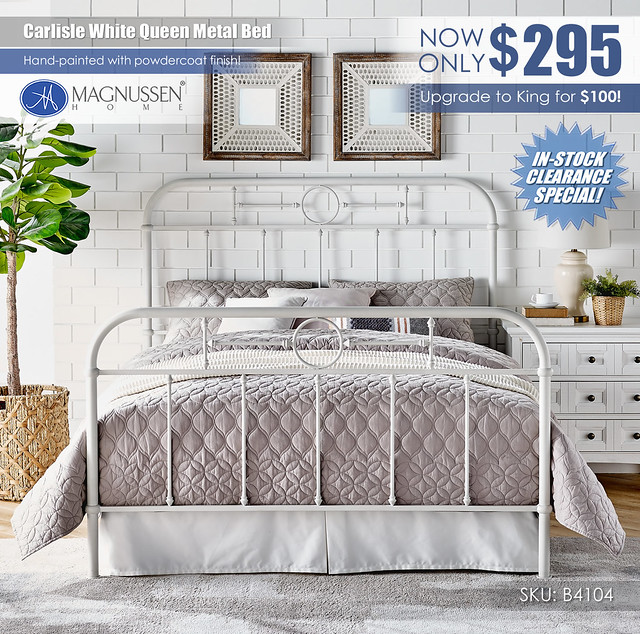 Carlisle Green Queen Metal Bed_B4104_Clearance