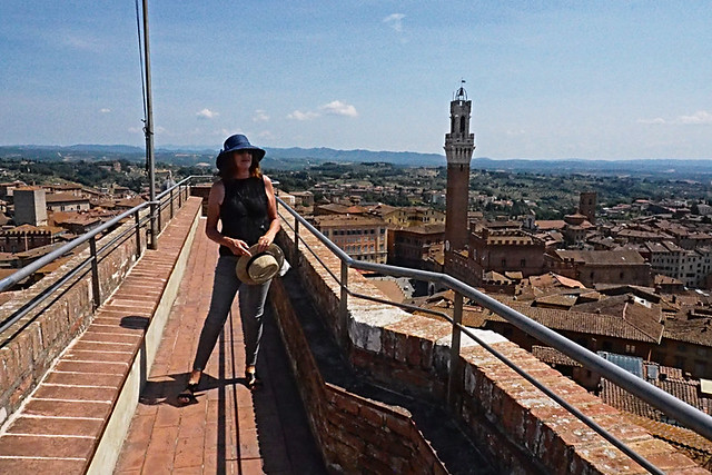 On top of the Facciatone, Siena Duomo