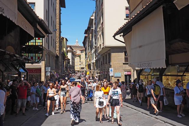 start of Ponte Vecchio, Florence, Italy