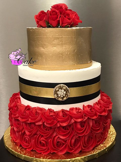 Red and Gold by Piece of Cake Dessert Gallery