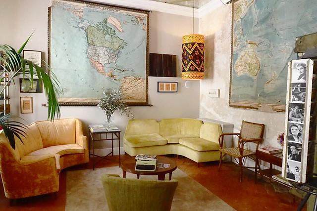 Lounge, Hotel Splendid, Oltrarno, Florence