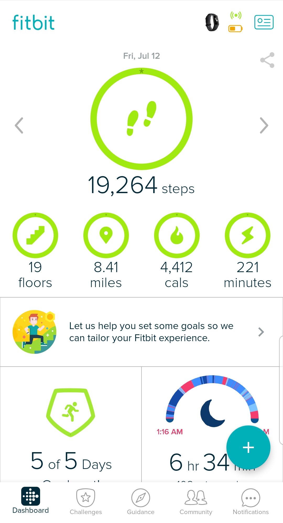 My most steps in one day  | T+G