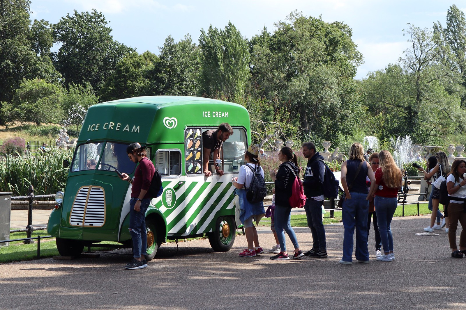 Ice truck at Kensington Gardens