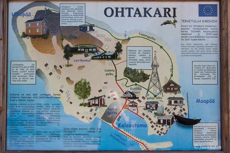 Kokkolan matkakohteet, Ohtakarin kartta