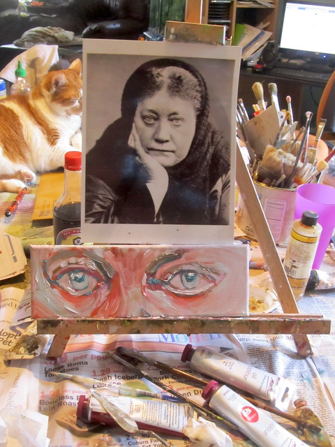 Art Space with Cat and Portrait of Blavatsky Cropped 2