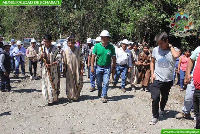 Inicio de construcción de la carretera Shirimpiari - Mapitunuari en Kepashiato