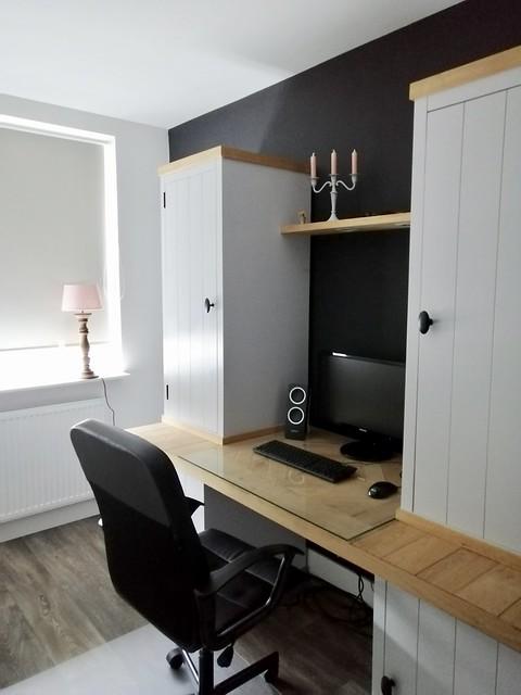 Werkruimte slaapkamer landelijk