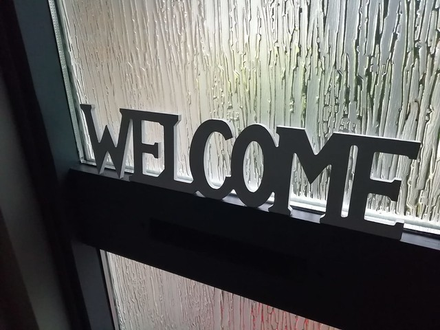 Welcome decoratie voordeur