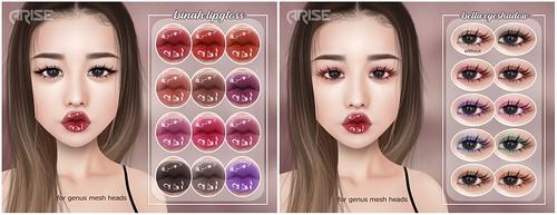 .ARISE. Binah Lipgloss & Bella Eyeshadow