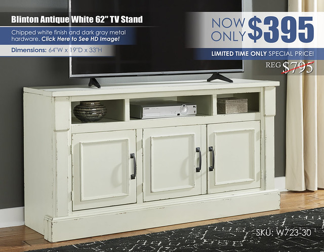 Blinton Antique White TV Stand_W723-30_Special