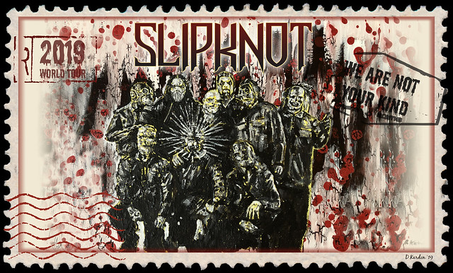 "Red Run Art Series (No Blackout Dates) - Package #22: ""We Are Not Your Kind"" Tour Stamp ft. Slipknot"
