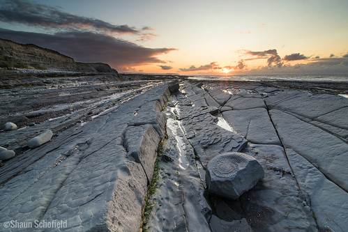 sunset beach kilve landscape somerset