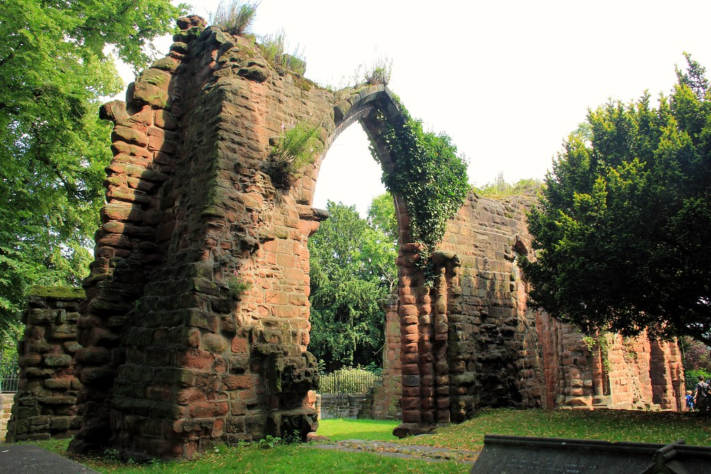 The ruined part of St. John the Baptist Church, Chester
