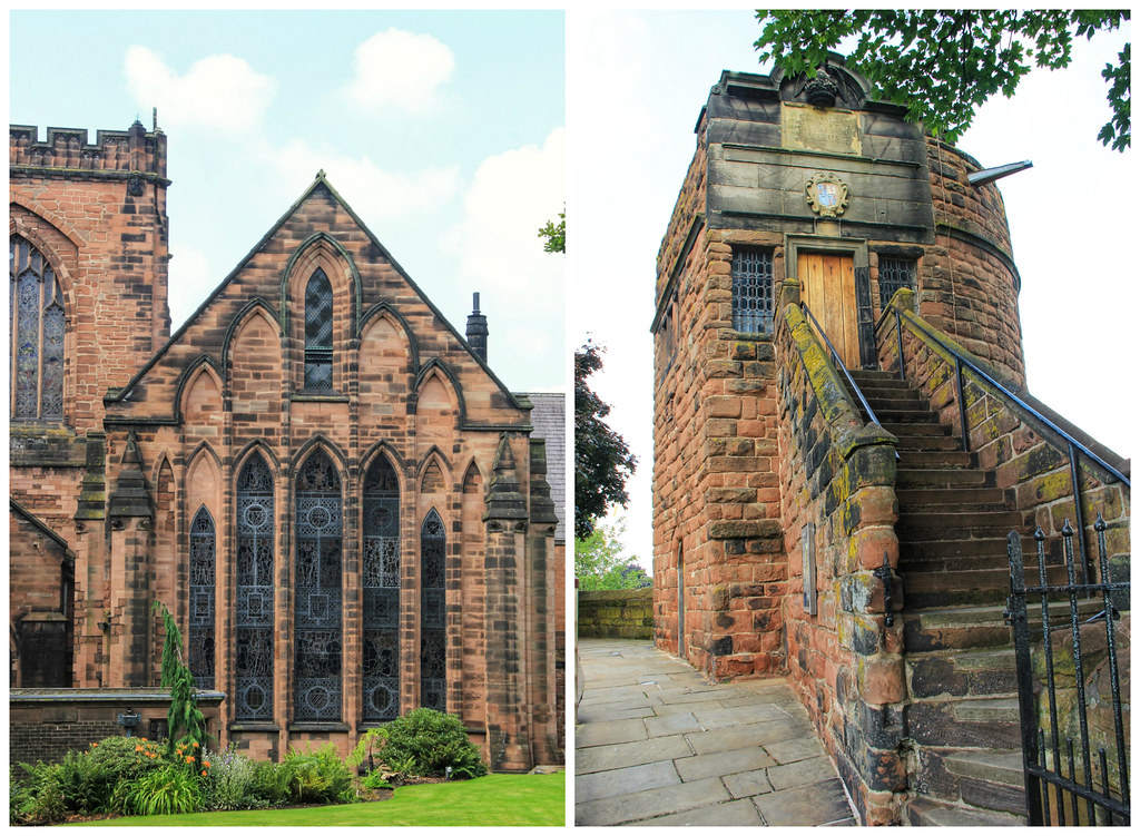 Views from Chester's old city walls