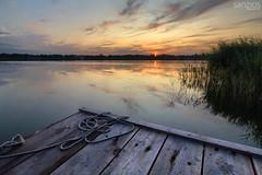 Sunset on the Gluszynskie Lake