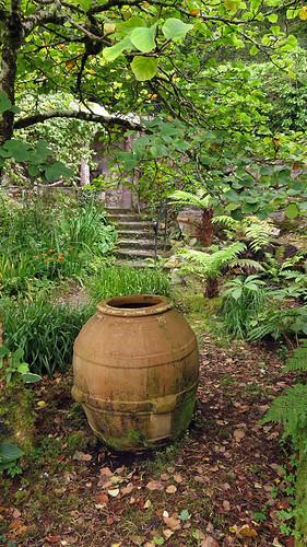 A pot in the castle garden in Glenveagh National Park in Ireland