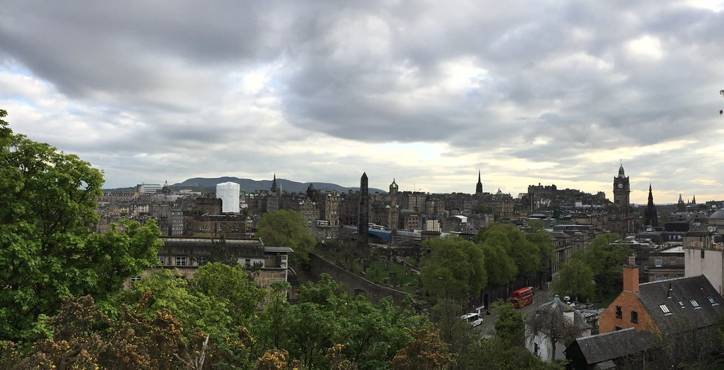 Clouds over Edinburgh, Scotland.