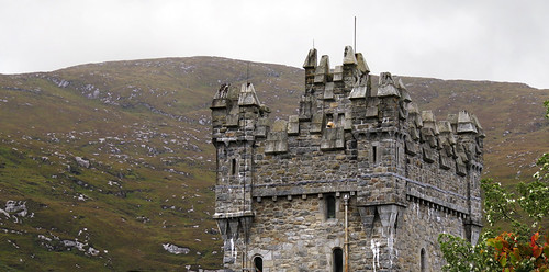 The Castle turrets in Glenveagh National Park in Ireland