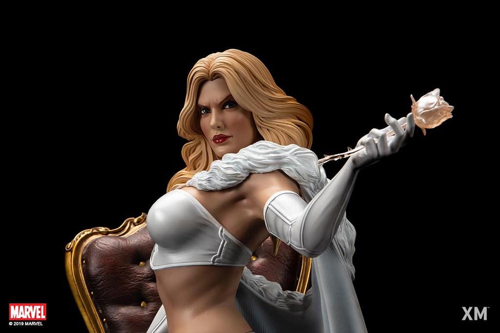 不愧對「皇后」之名的華麗造型! XM Studios Premium Collectibles 系列 Marvel Comics【白皇后】White Queen 1/4 比例全身雕像作品