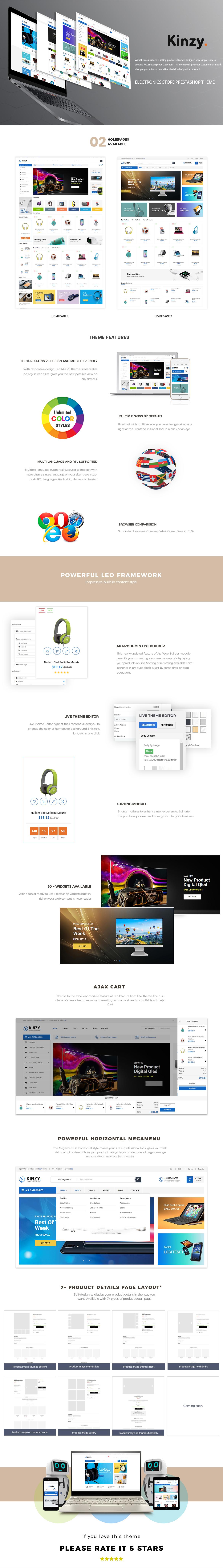 Kinzy - Electronics Store prestashop 1.7 themes
