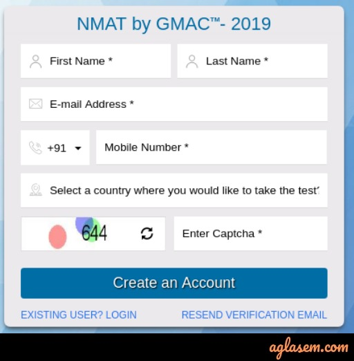 NMAT 2020 Application Form