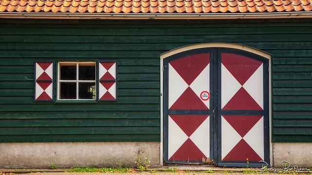 Diamond door and blinds