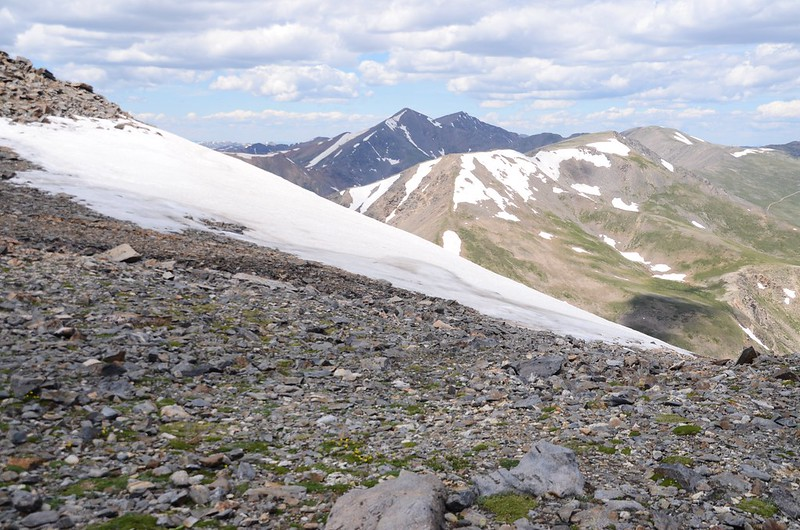 Looking northwest at Grays & Torreys Peak from  Square Top Mountain's summit (1)