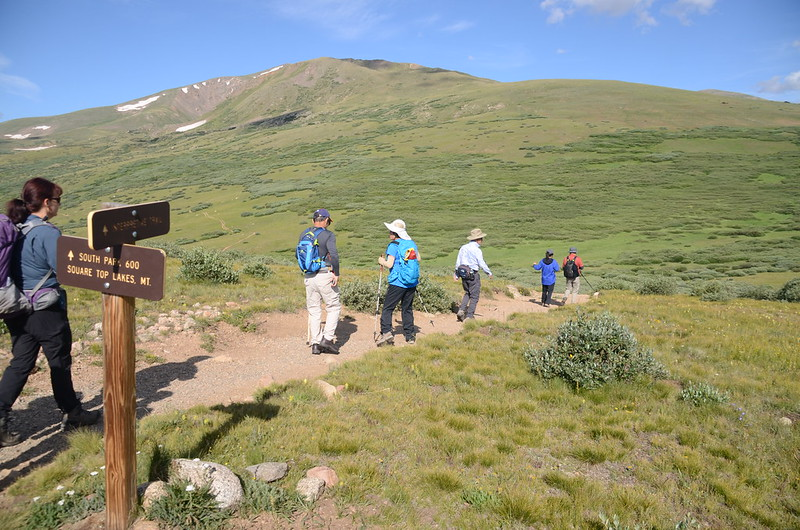 Square Top Lakes & Mountain、Interpretive Trail junction