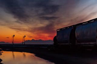 Sunset over the Alaska Range