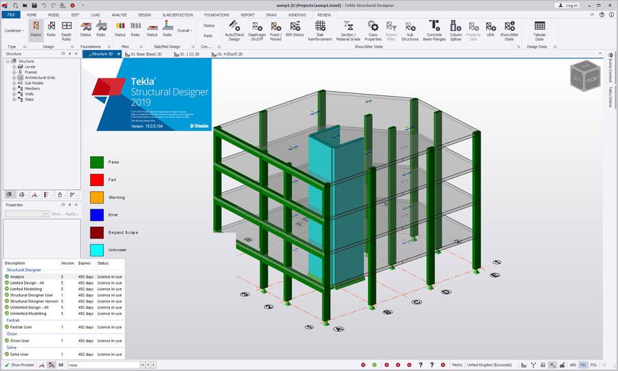 Working with Tekla Structural Designer 2019 full licensse