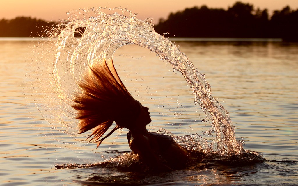 Water and hairs