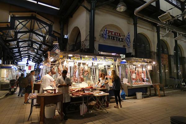 la viande au marché