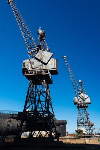 cranes maritimemuseum maritime bluesky industry fremantle perth westernaustralia drydock
