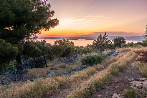 Sonnenuntergang auf Brac