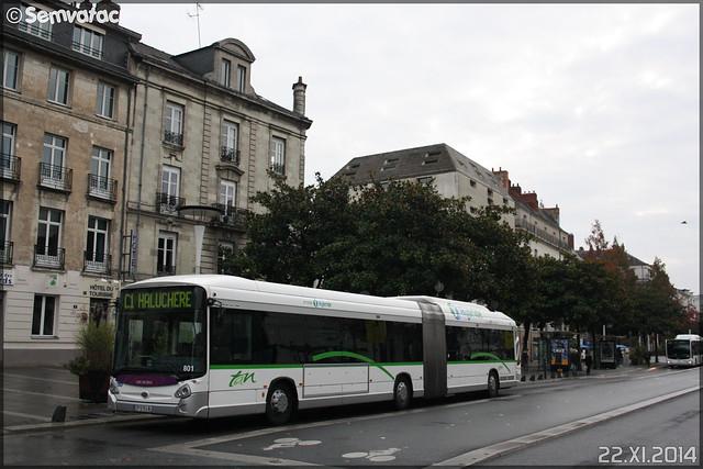 Heuliez Bus GX 427 hybrid – Semitan (Société d'Économie MIxte des Transports en commun de l'Agglomération Nantaise) / TAN (Transports en commun de l'Agglomération Nantaise) n°801