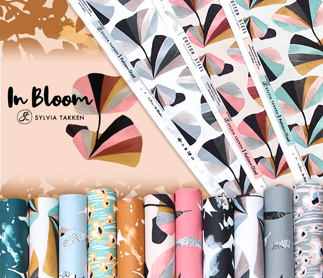 COTTON+STEEL In Bloom Collection by Sylvia Takken