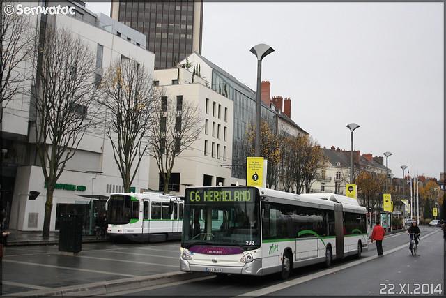 Heuliez Bus GX 427 GNV – Semitan (Société d'Économie MIxte des Transports en commun de l'Agglomération Nantaise) / TAN (Transports en commun de l'Agglomération Nantaise) n°292