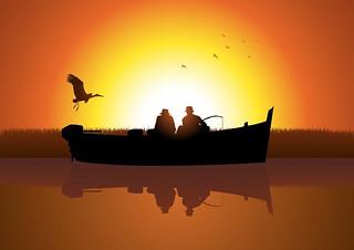 Due uomini in barca, il terzo arriva dopo