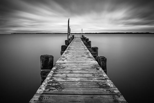 Bootssteg an der Ostsee
