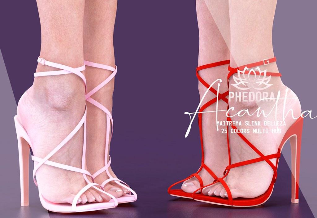 "Phedora. for FaMESHed – ""Acantha"" heels ♥"
